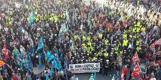Sciopero dei dipendenti comunali a Roma
