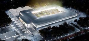 Vista dell'Arena da Baixada di Curitiba, stadio pronto ad ospitare i Mondiali.