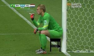 Jasper/Jigen Cillessen fuma una sigaretta annoiato dal match