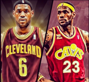 "La foto postata da LeBron James su Instagram: ""6 or 23?..."""