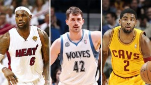 Kevin Love, LeBron James, Kyrie Irving, i nuovi Big Three di Cleveland?