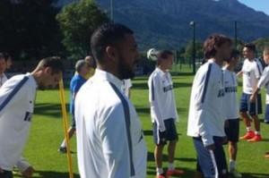 M'Vila a Pinzolo, si allena con  l'Inter