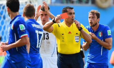 Il contestato cartellino rosso a Claudio Marchisio