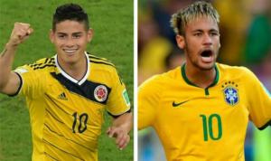 Brasile-Colombia è anche Neymar contro James Rodriguez.
