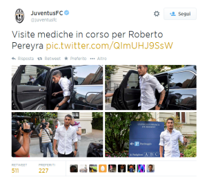 Roberto Pereyra, visite mediche in corso