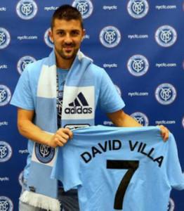 La presentazione di Villa a NYC, sarà compagno di squadra di Lampard