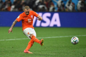 Olanda-Argentina: Wesley Sneijder fallisce uno dei tiri di rigore