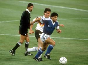 Diego Armando Maradona, protagonista con l'Argentina al Mondiale italiano del 1990
