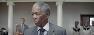 "Morgan Freeman interpreta Nelson Mandela in ""Invictus"""
