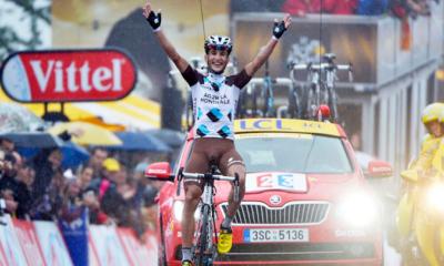 Blel Kadri, vincitore della settima tappa del Tour de France