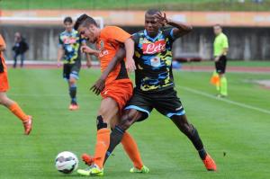 Koulibaly, in azione all'esordio con la maglia azzurra