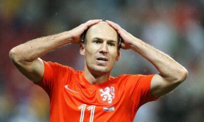 Arjen Robben con la maglia dell'Olanda