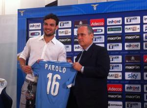 Parolo presentato come nuovo giocatore della Lazio