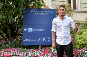 Pereyra si sottopone alla visite mediche