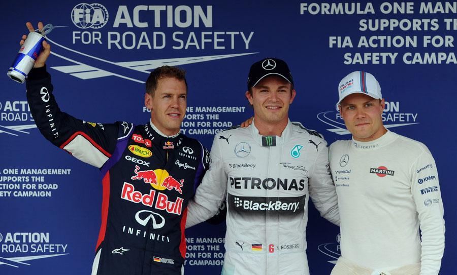 Rosberg,Vettel e Bottas