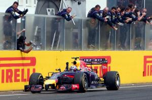 Dani Ricciardo, vincitore del Gp d'Ungheria
