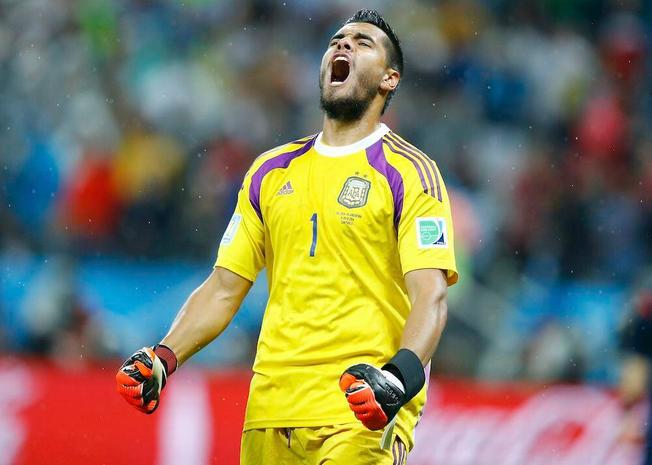 Sergio Romero, portiere della Sampdoria e dell'Argentina