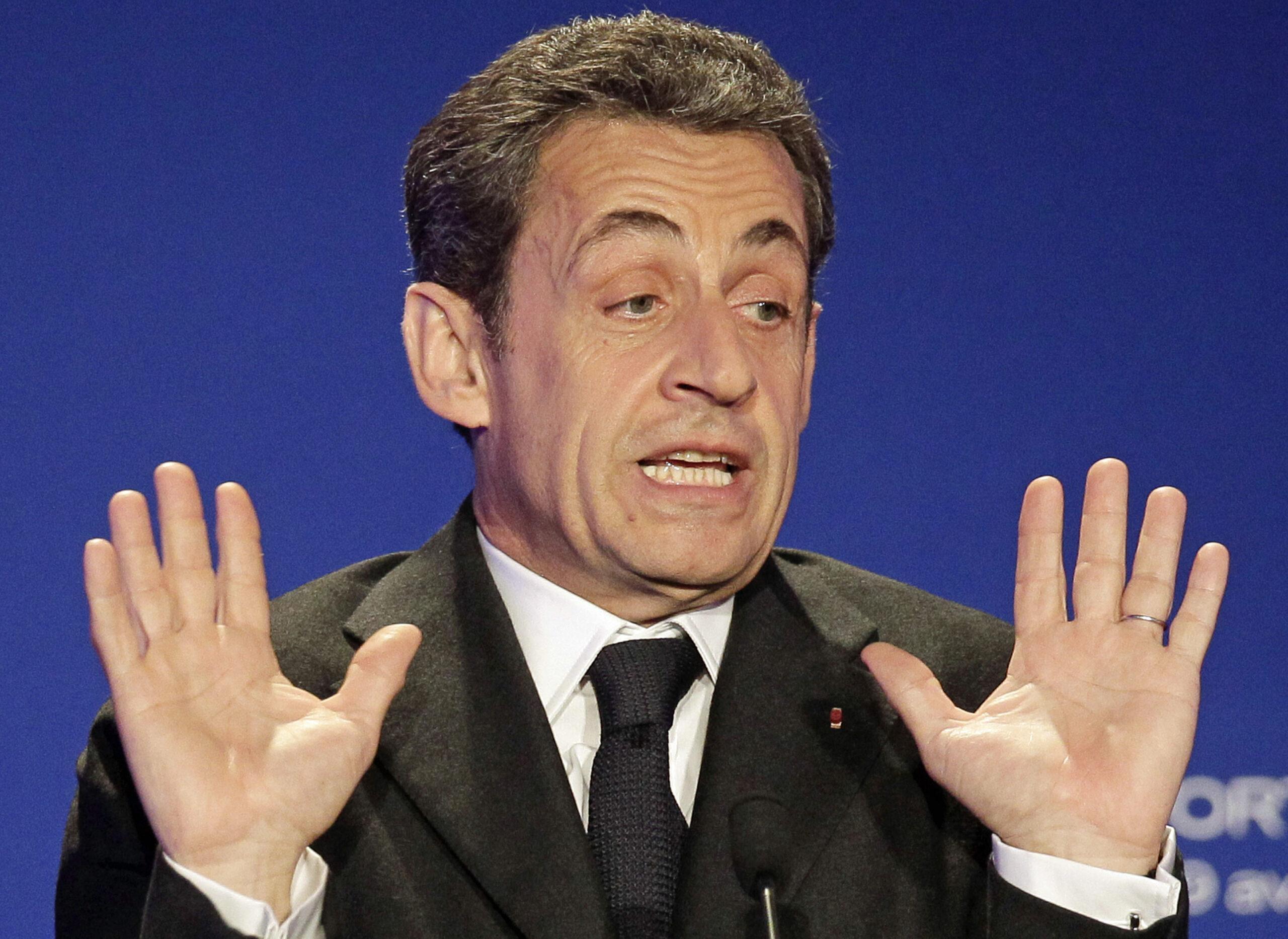 L'ex presidente Francese Nicolas Sarkozy