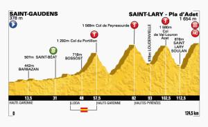 Altimetria della diciassettesima tappa del Tour de France 2014