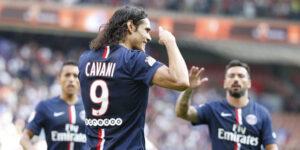 Il matador Cavani autore del 2-0 nella vittoria contro il Bastia