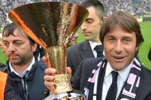 Conte, vincitore di tre scudetti da allenatore sulla panchina della Juventus