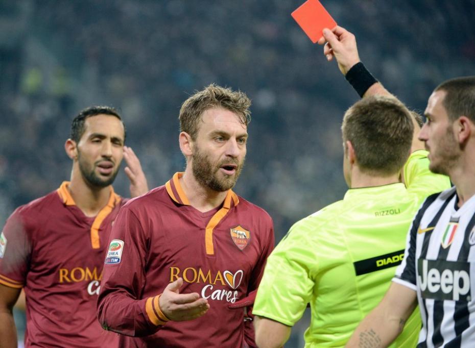 De Rossi espulso durante Juventus-Roma dello scorso anno