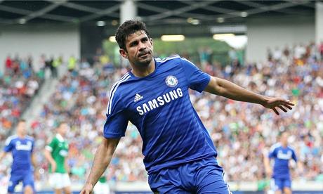 Diego Costa ancora in goal contro il Leicester