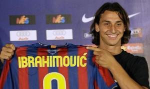 Mino Raiola, Zlatan Ibrahimovic con la maglia del Barcellona