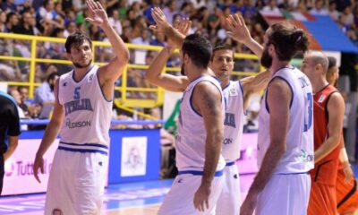 La Nazionale italiana di basket, impegnata nelle qualificazioni ad Euro2015