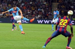 Il gol di Dzemaili decide l'amichevole di lusso col Barcellona