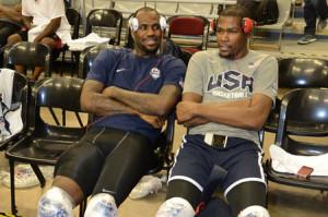Kevin Durant e Lebron James, hanno vinto insieme un oro olimpico a Londra