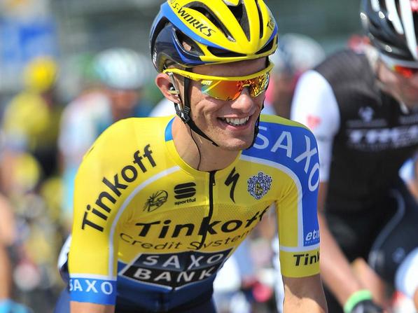 Rafal Majka, vincitore della quinta tappa del Giro di Polonia.