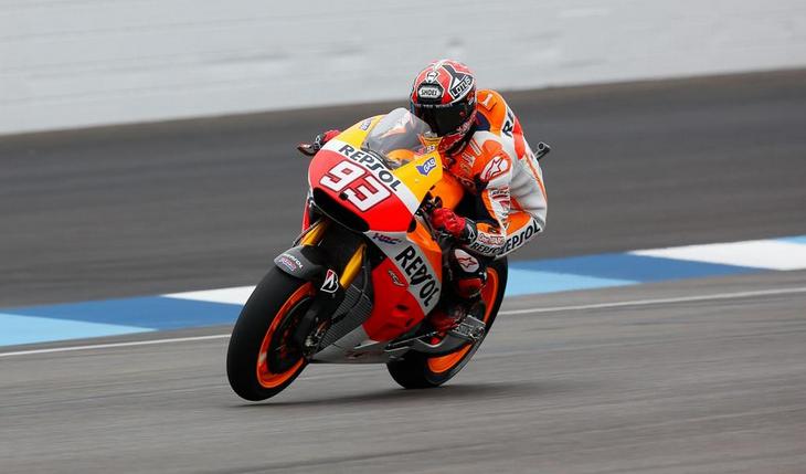 Marquez il più veloce nelle FP2 del GP di Indianapolis