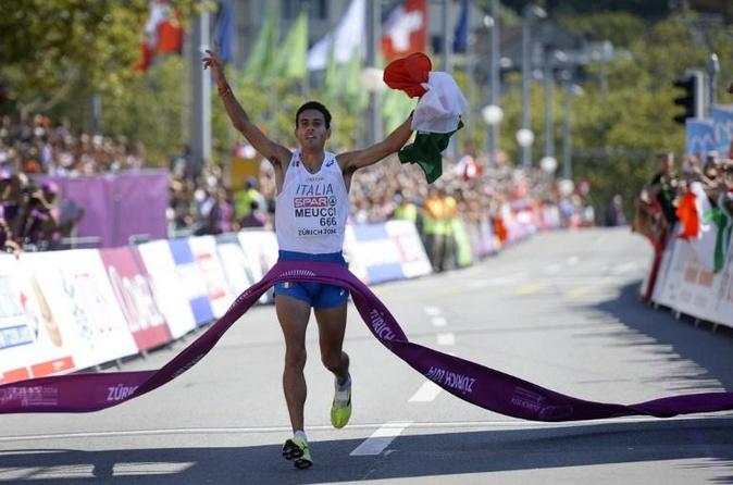 Daniele Meucci, medaglia d'oro a Zurigo 2014