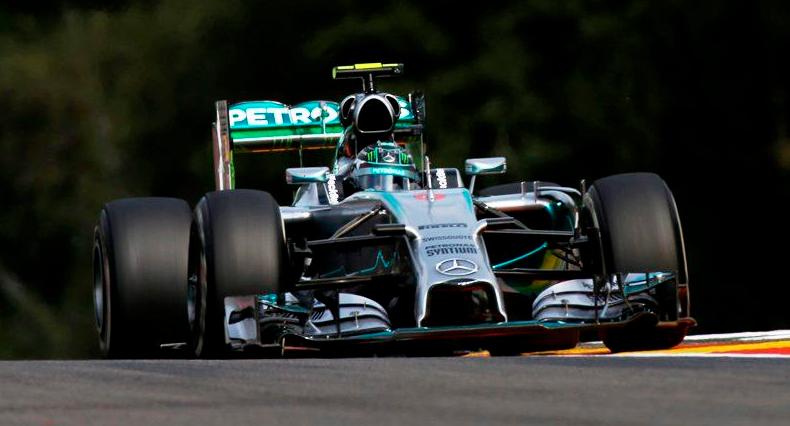 Nico Rosberg, pole nel Gp del Belgio