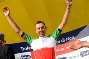 Ivan Santaromita, campione italiano nel 2013, si è ritirato a causa di una caduta nel corso della tappa vinta da De Marchi