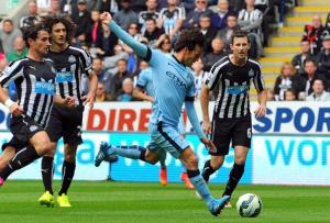 Newcastle-Manchester City 0-2: il gol di Silva