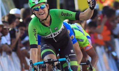 L'olandese Theo Bos, vincitore della terza tappa del Giro di Polonia
