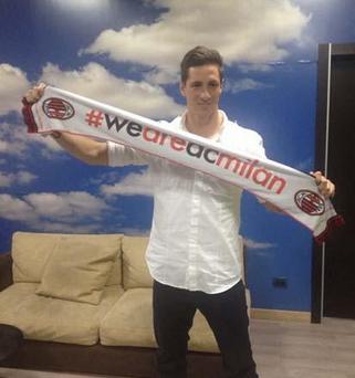 Fernando Torres guiderà l'attacco del Milan stasera contro l'Empoli