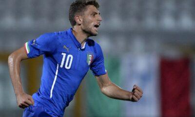 Domenico Berardi, attaccante del Sassuolo e dell'Under-21