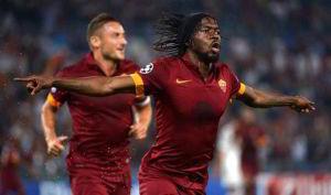 L'attaccante ivoriano della Roma, Gervinho, mattatore in Champions League contro il CSKA Mosca.