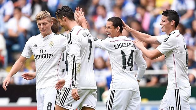 Gli assi del Real Madrid, vittorioso 8-2 contro il Deportivo