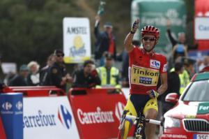 Alberto Contador ha vinto l'ultima Vuelta con la maglia della Saxo-Tinkoff