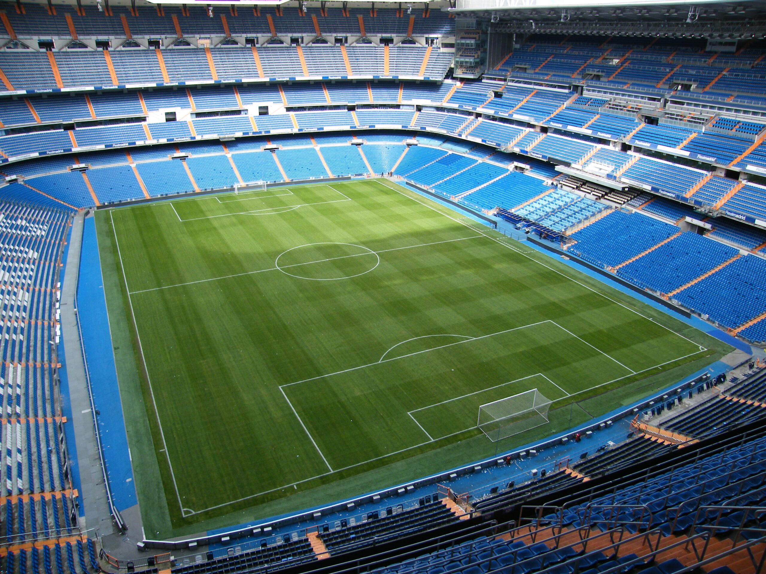 Lo stadio Santiago Bernabeu.