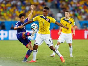 Carbonero con la maglia de los Cafeteros agli ultimi Mondiali in Brasile