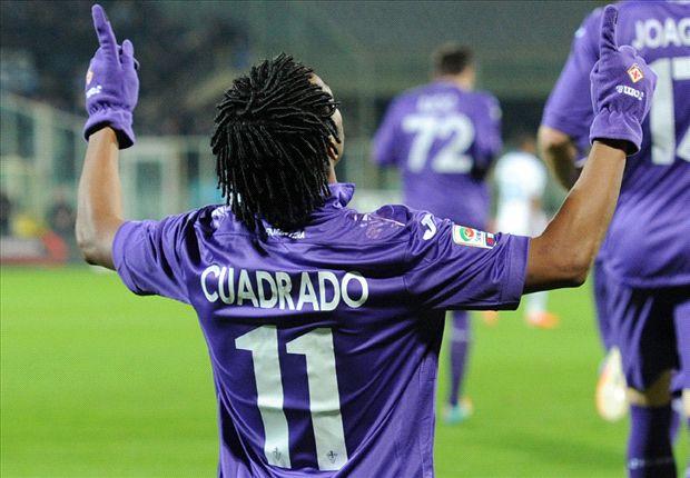Juan Cuadrado, trascinatore della Fiorentina contro l'Hellas