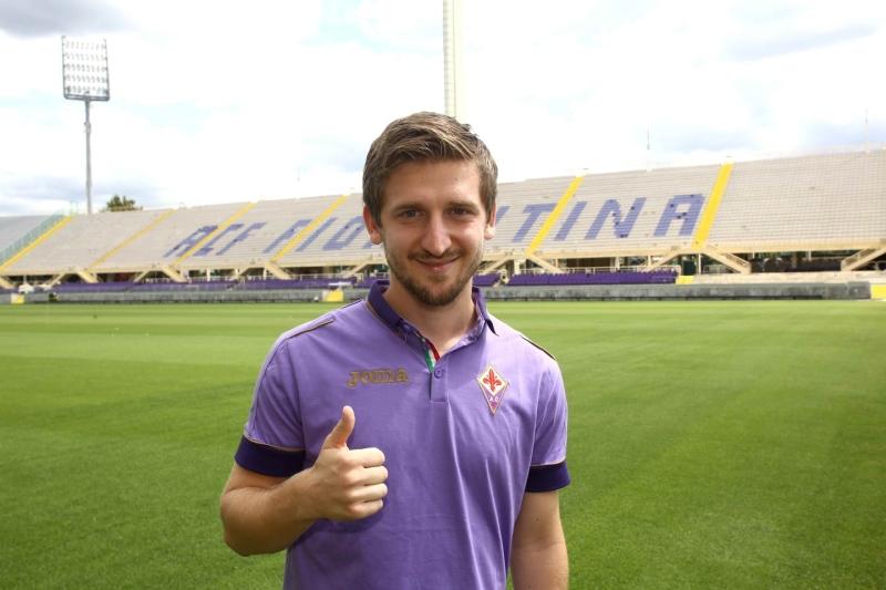 Marko Marin al suo arrivo in maglia Viola