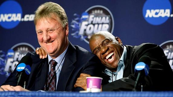 Magic Johnson e Larry Bird, un'amicizia che dura anche 20 anni dopo il loro ritiro dalla pallacanestro
