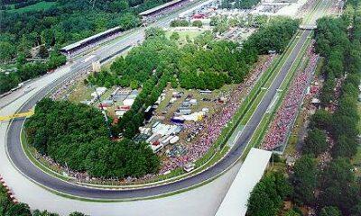 Vista panoramica del circuito di Monza