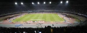 """Il Napoli è alla sua quinta partecipazione consecutiva alle coppe europee (record in Italia) e lo Stadio """"San Paolo"""" ospiterà per la quarta volta su cinque l'esordio dei partenopei in Europa."""